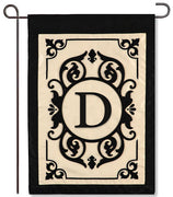 "Cambridge Monogram  ""D"" Applique Garden Flag"