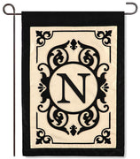 "Cambridge Monogram  ""N"" Applique Garden Flag"
