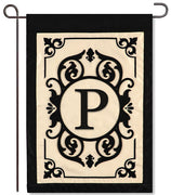 "Cambridge Monogram  ""P"" Applique Garden Flag"