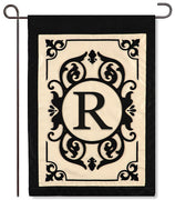 "Cambridge Monogram  ""R"" Applique Garden Flag"