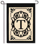 "Cambridge Monogram  ""T"" Applique Garden Flag"