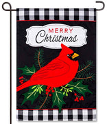 Merry Cardinal Applique Garden Flag