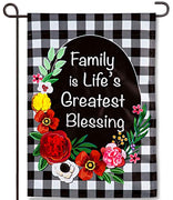 Family is Life Applique Garden Flag