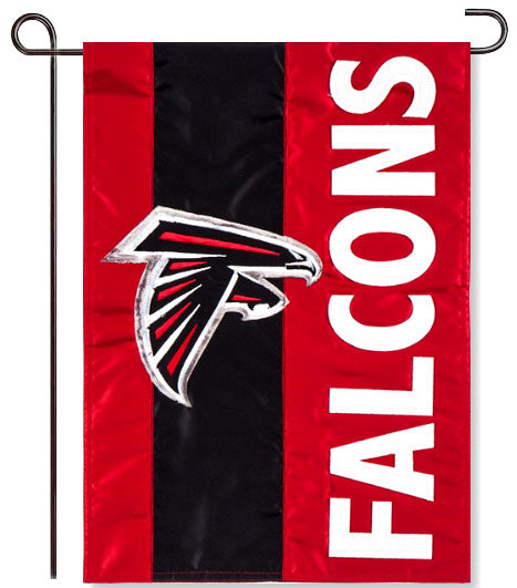 Atlanta Falcons Applique Garden Flag