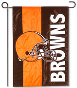 Cleveland Browns Applique Garden Flag
