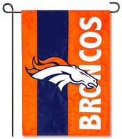 Denver Broncos Applique Garden Flag