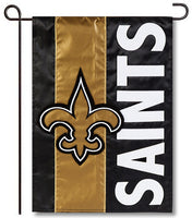 New Orleans Saints Applique Garden Flag