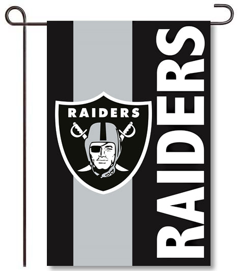 Oakland Raiders Applique Garden Flag