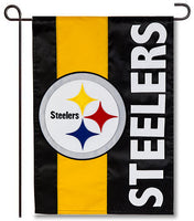 Pittsburgh Steelers Applique Garden Flag