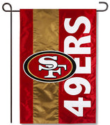 San Francisco 49ers Applique Garden Flag