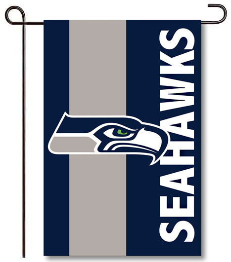 Seattle Seahawks Applique Garden Flag