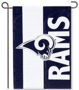 LA Rams Applique Garden Flag