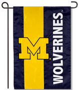 University of Michigan Applique Garden Flag