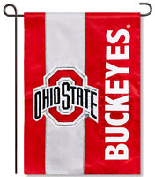 Ohio State University Applique Garden Flag