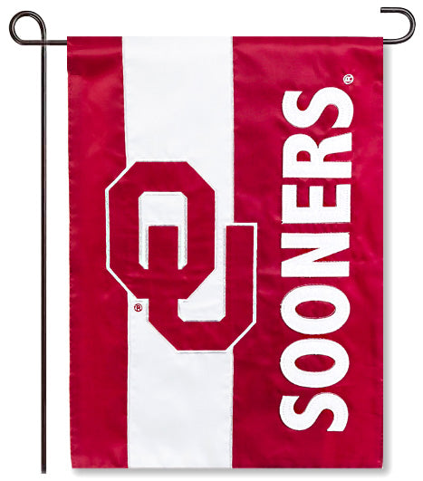 University of Oklahoma Applique Garden Flag