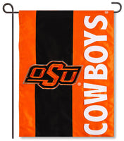 Oklahoma State University Applique Garden Flag