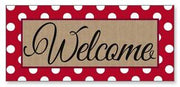 Polka-Dot Welcome Sassafras Mat