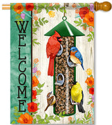 Songbird Feeder House Flag