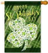 Floral Shamrock House Flag