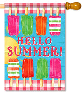 Summer Popsicles House Flag