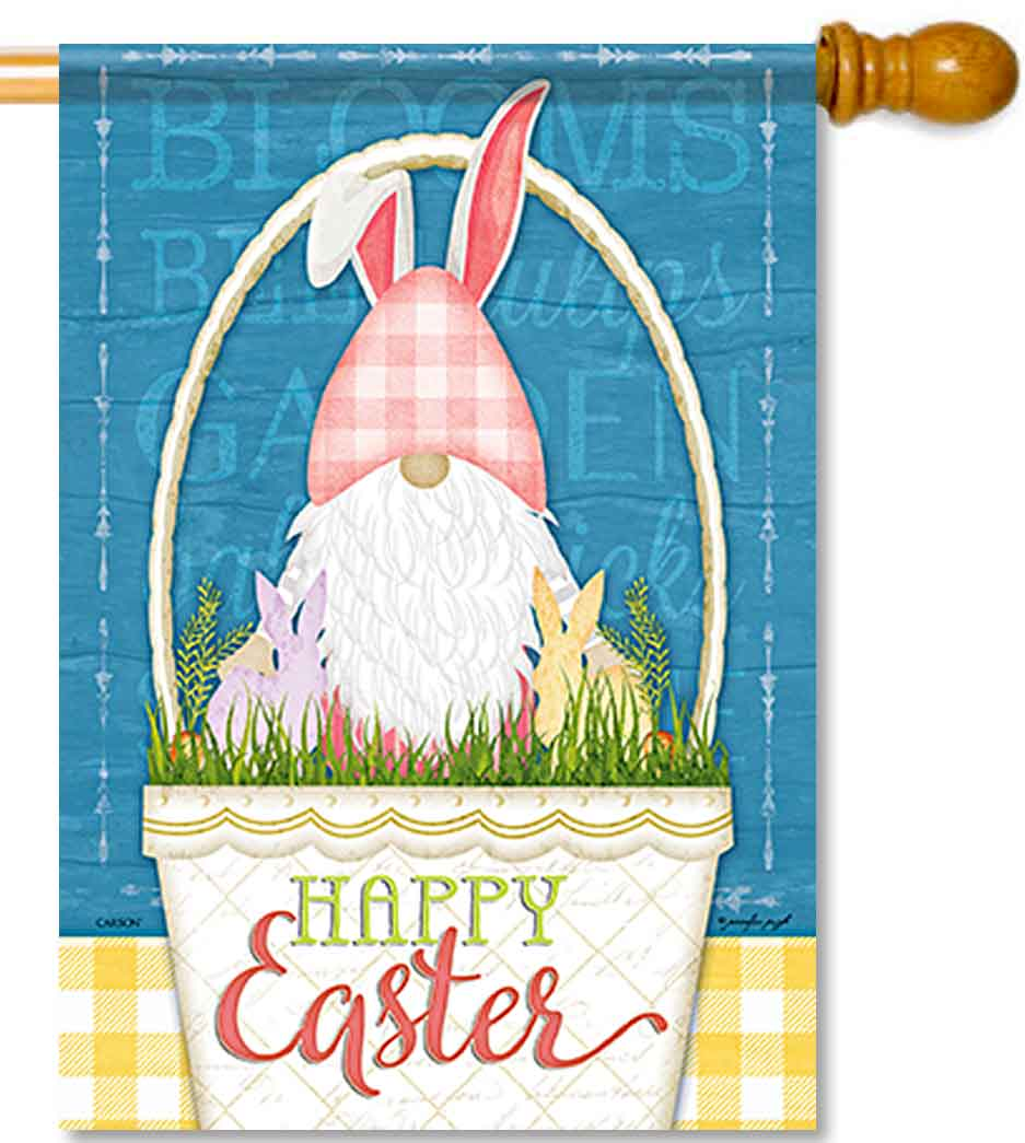 Happy Easter Gnome House Flag