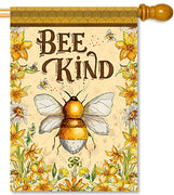 Bee Kind House Flag