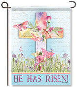Watercolor Sunrise Garden Flag