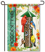 Songbird Feeder Garden Flag