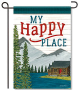 My Happy Place Garden Flag