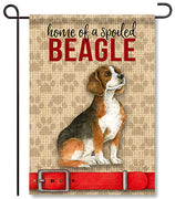 Spoiled Beagle Garden Flag