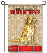 Spoiled Golden Retriever Garden Flag