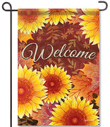 Layered Sunflowers Glitter Garden Flag