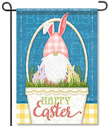 Happy Easter Gnome Garden Flag
