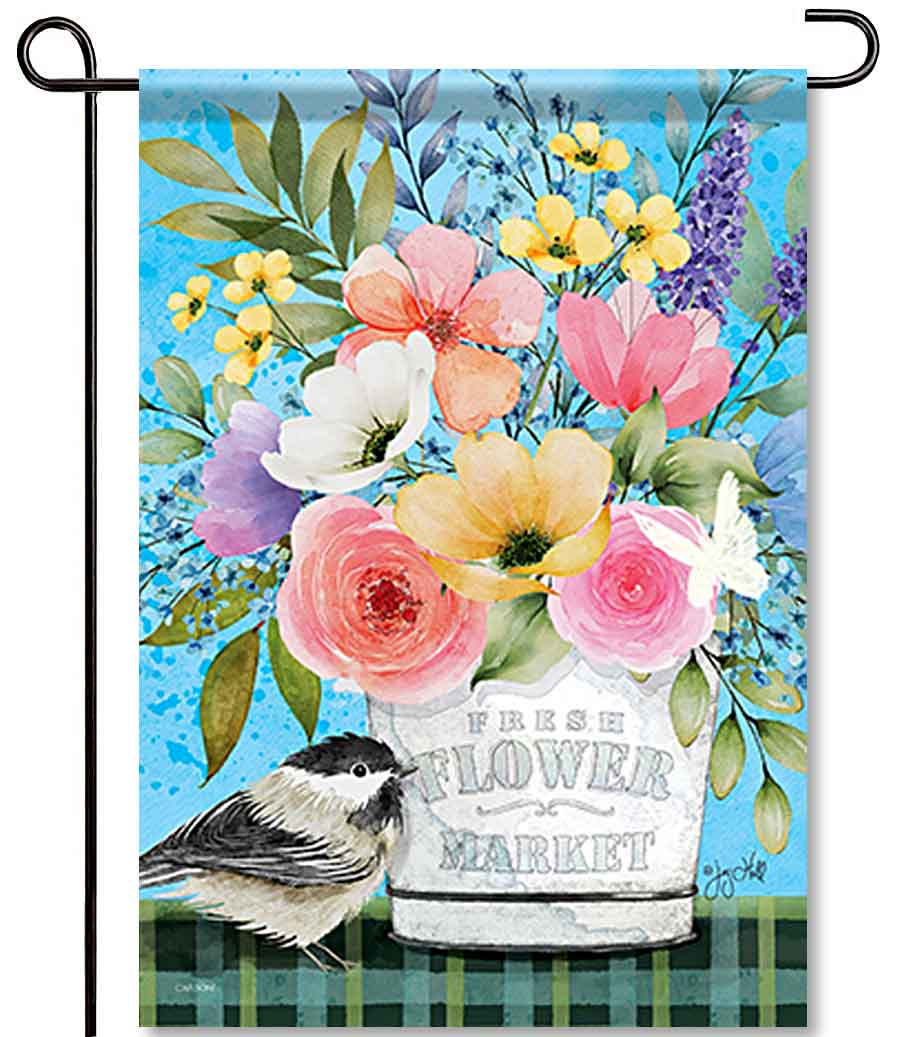 Floral Breeze Garden Flag