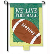 We Live Football Garden Flag