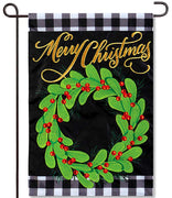 Farmhouse Christmas Applique Garden Flag