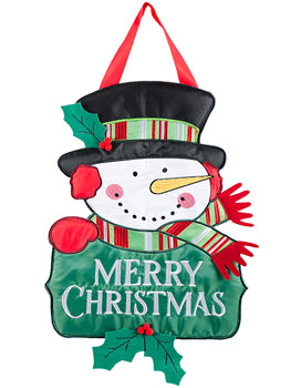 Christmas Snowman Door Hanger
