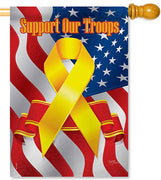 Support Our Troops House Flag