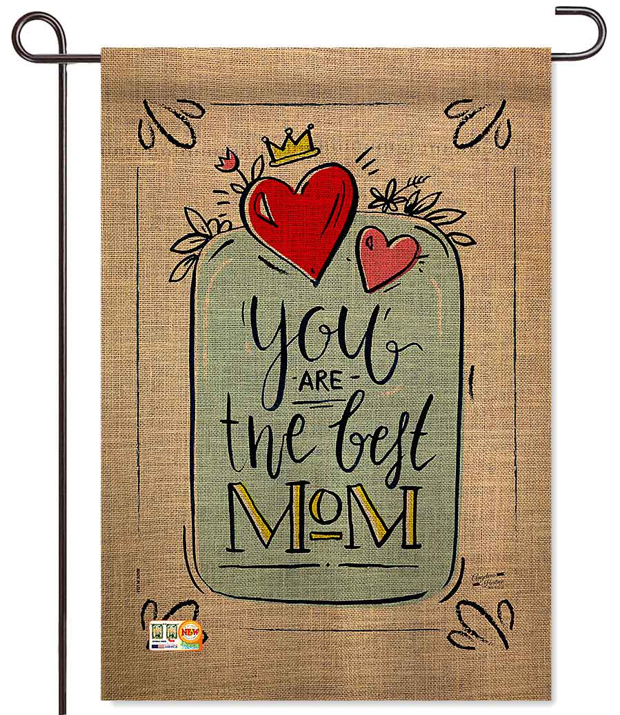 The Best Mom Garden Flag