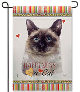 Siamese Cat Garden Flag