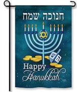 Happy Hanukkah Garden Flag