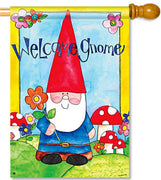 Welcome Gnome House Flag