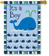 Whales - It's a Boy House Flag