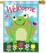 Happy Frog House Flag