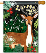 Comfort and Joy Deer House Flag