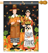 Pilgrim Thanksgiving House Flag