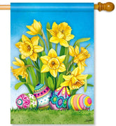 Easter Daffodils House Flag
