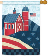 American Barn House Flag