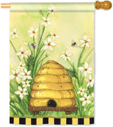 Bee Skep House Flag