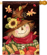 Autumn Scarecrow House Flag